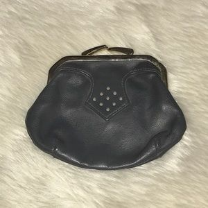 Vintage genuine leather coin purse wallet